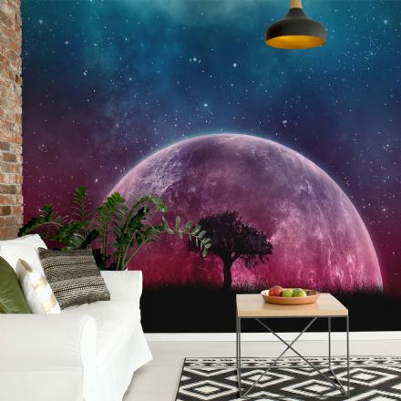 "Easy to apply wallpaper ""Scarlet moon"""